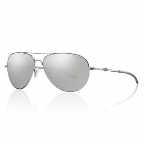 Smith AUDIBLE Matte Silver / ChromaPop Polarized Platinum Sunglasses