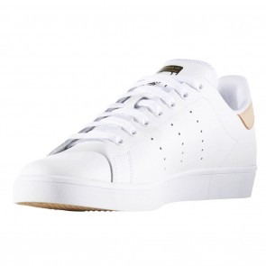 Adidas Stan Smith Vulc White / Pale Nude / Gold Metallic Shoes