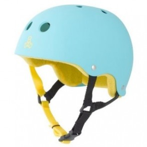 Triple 8 Brainsaver Certified Rubber Skate Helmet - Baja Teal