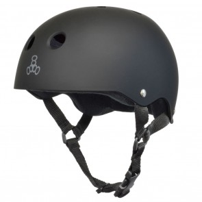 Triple 8 Brainsaver Rubber Matte Black / Black Rubber Skate Helmet