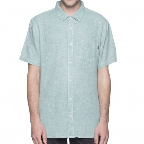 HUF Course Chambray Mens Shirt - Aqua