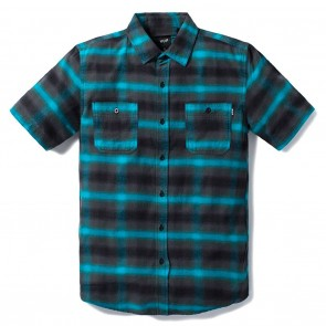 HUF Ombre Plaid Short Sleeve Shirt - Aqua