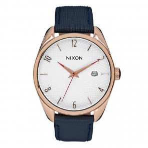 Nixon Bullet Leather Rose Gold with Navy Watch