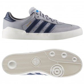 Adidas BUSENITZ VULC SAMBA EDITION Light Onix / Collegiate Navy / Bluebird Skate Shoes