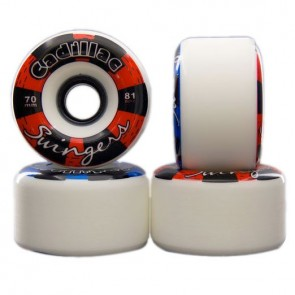 Cadillac Swingers White Longboard Wheels - 70mm 81a