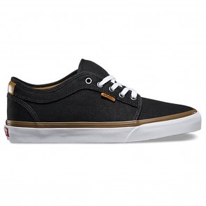 Vans CHUKKA LOW Denim Black White Skateboard Shoes