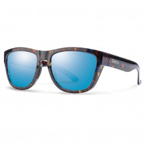 Smith CLARK Flecked Blue Tortoise Blue Flash Mirror Sunglasses
