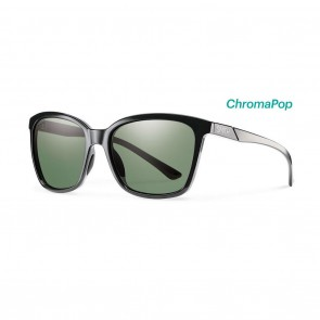Smith COLETTE Black ChromaPop Polarized Grey Green Sunglasses