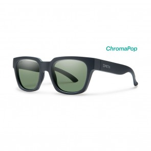 Smith COMSTOCK Matte Black ChromaPop Polarized Grey Green Sunglasses