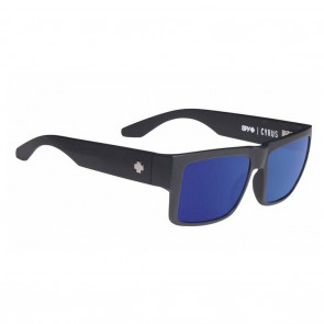 Spy Cyrus Soft Matte Black / Happy Bronze with Blue Spectra Sunglasses