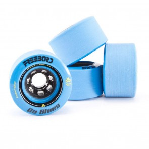 Freebord Da Blues Stone Ground Edge 78mm 80a Blue Wheels Set of 4