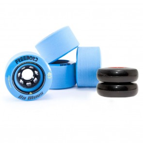 Freebord Da Blues Stone Ground Edge 78mm 80a Blue Wheels Kit Set of 4