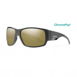 Smith DOCKSIDE Sunglasses - Matte Black / ChromaPop+ Polarized Bronze Mirror