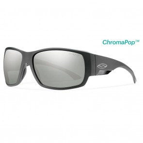 Smith Dockside Matte Black / ChromaPop Polarized Platinum Sunglasses