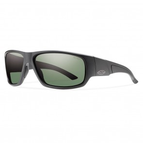 Smith Discord Matte Black / Polarized Grey Green Sunglasses