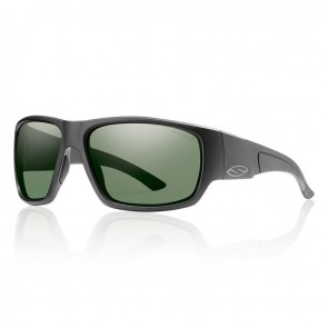 Smith DRAGSTRIP Matte Black Frame Polarized Grey Green Lens Sunglasses
