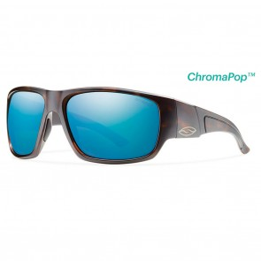 Smith Dragstrip Matte Tortoise / ChromaPop Polarized Blue Mirror Sunglasses