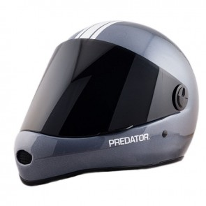Timeship Racing Predator DH-6 Skate Helmet - Team Carbon Graphic