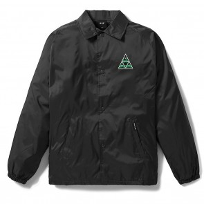HUF Dimensions Coaches Jacket Black Front