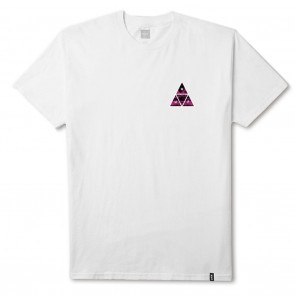 HUF Dimensions Triangle Tee in White Front