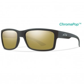 Smith Dolen Matte Black / ChromaPop Polarized Bronze Mirror Sunglasses