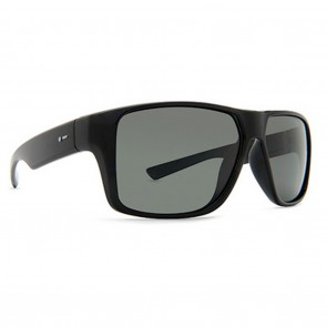 Dot Dash TURBO Sunglasses - Black Satin and Grey
