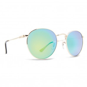 Dot Dash VELVATINA Gold Gloss Green Chrome Sunglasses