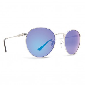 Dot Dash VELVATINA Silver Matte Blue Chrome Sunglasses