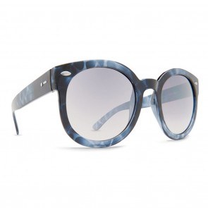 Dot Dash POOL PARTY Blue Tortoise Gloss Silver Chrome Gradient Sunglasses