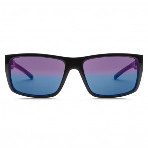 Electric SIXER Gloss Black Melanin Blue Polarized Level 2 Sunglasses