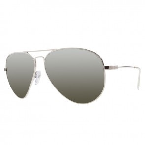 Electric AV1 XL Platinum Melanin Grey Silver Chrome Sunglasses
