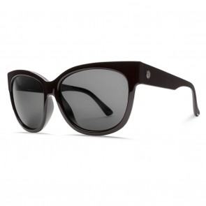 Electric DANGER CAT Gloss Black OHM Grey Polarized Sunglasses