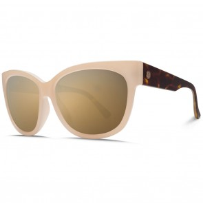 Electric DANGER CAT Nude Tortoise / OHM Grey Gold Chrome Sunglasses