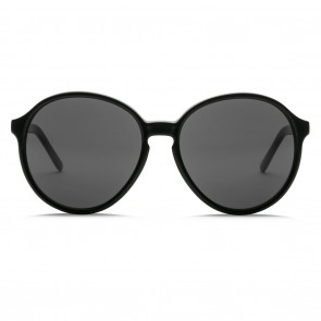 Electric RIOT Gloss Black Melanin Grey Sunglasses