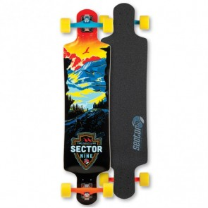 Sector 9 Faultline Red Longboard Complete.