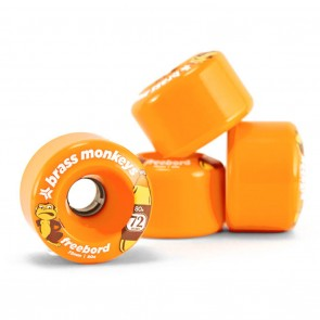 Freebord Brass Monkey Edge Wheels Orange 72mm 80a