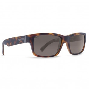 VonZipper FULTON Tortoise Satin Wildlife Vintage Grey Polarized Sunglasses