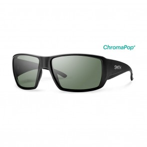 Smith GUIDES CHOICE Sunglasses - Matte Black ChromaPop+ Polarized Grey Green
