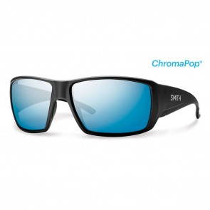 Smith GUIDES CHOICE Matte Black  ChromaPop+ Polarized Blue Mirror Sunglasses