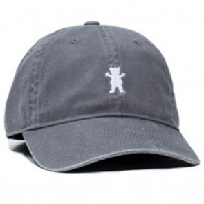 Grizzly Mini Bear Strapback Hat Grey Front