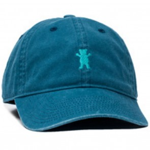 Grizzly Mini Bear Strapback Hat Teal Front