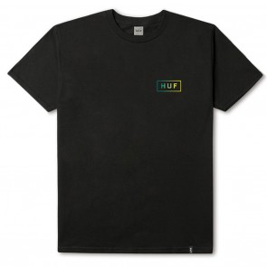 HUF Gradient Bar Logo Tee inn Black Front