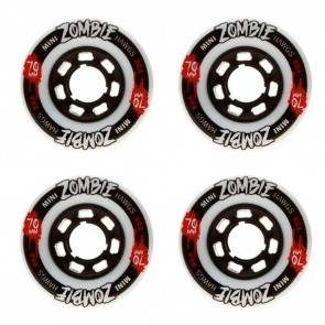 Landyachtz 70mm Mini Zombies Longboard Wheels - Set of 4 - Durometer 80a (White)