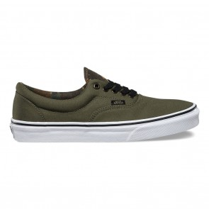 Vans Era Vintage Camo Skate Shoes Ivy Green / Black
