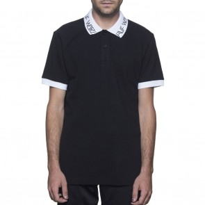 HUF Letras SS Polo Shirt - Black