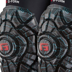 G-Form Elite Knee Pads - Black / Teal Topo Print