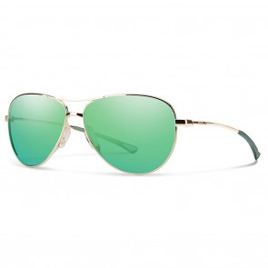 Smith LANGLEY Gold Green Sol-X Mirror Sunglasses