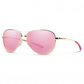 Smith LANGLEY Gold Pink Sol-X Mirror Sunglasses