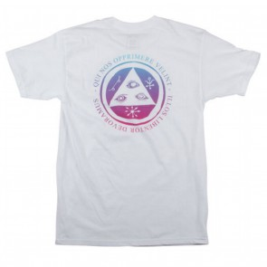 Welcome Latin Talisman Mens T-Shirt - White / Red / Blue