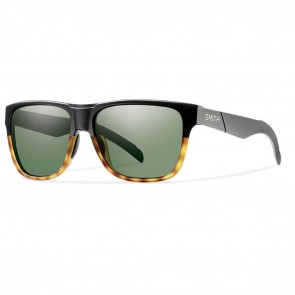Smith LOWDOWN Matte Black Fade Tortoise / Grey Green Sunglasses
